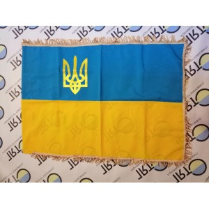 Флаг Украины (70см*105см) габардин, трезубец, бахрома