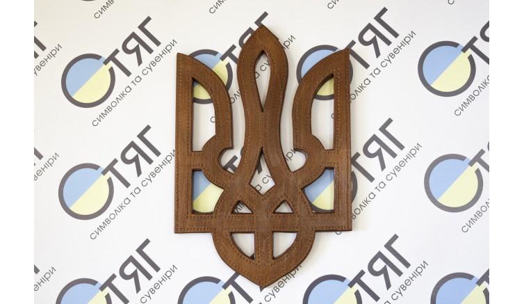Настінний дерев'яний тризуб 30см*44,5см