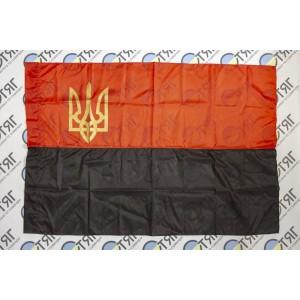 Прапор УПА з нейлону з тризубом - 90*135см